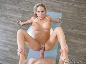 Pure Mature Tegan James in Yoga Ball Workout 11